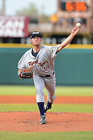 Lakeland Flying Tigers pitcher Kyle Ryan (34) during a game against the Bradenton Marauders July 22, 2013 at McKechnie Field in Bradenton, Florida.  Bradenton defeated Lakeland 9-5.  (Mike Janes/Four Seam Images)