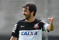 SÃO PAULO,SP, 27 Junho 2013 -  Douglas  durante treino do Corinthians no CT Joaquim Grava na zona leste de Sao Paulo, onde o time se prepara  para para enfrenta o Sao Paulo pelas finais da Recopa . FOTO ALAN MORICI - BRAZIL FOTO PRESS
