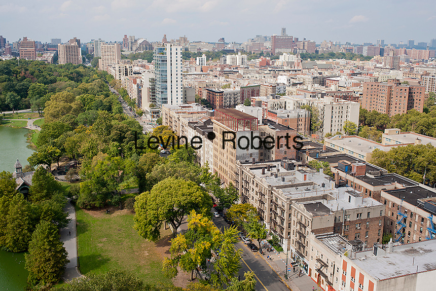 The northern end of Central Park where it meets Harlem is seen from an apartment on Fifth Avenue on Saturday, October 6, 2012 . (© Richard B. Levine)