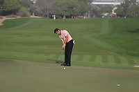 Robert Rock (ENG) on the 3rd green during Round 2 of the Omega Dubai Desert Classic, Emirates Golf Club, Dubai,  United Arab Emirates. 25/01/2019<br /> Picture: Golffile | Thos Caffrey<br /> <br /> <br /> All photo usage must carry mandatory copyright credit (© Golffile | Thos Caffrey)