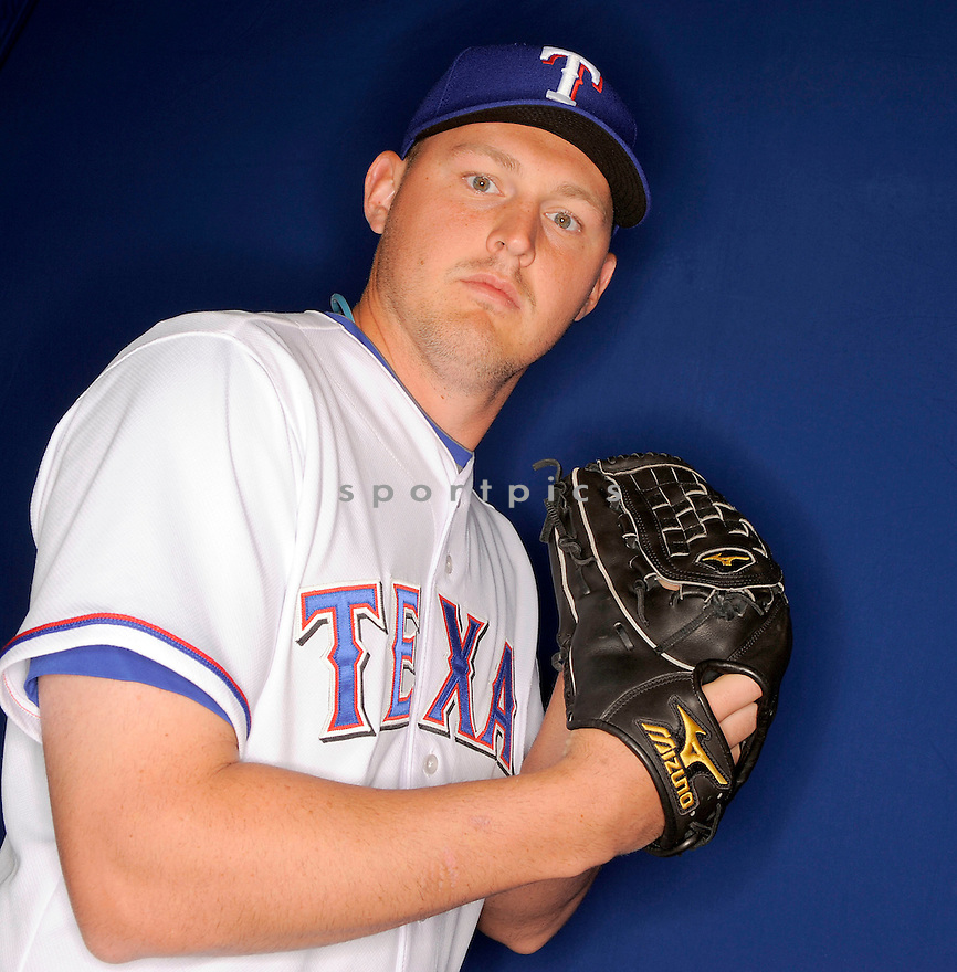 MATT HARRISON, of the Texas Rangers, during photo day of spring training and the Ranger's training camp in Surprise, Arizona on February 24, 2009.