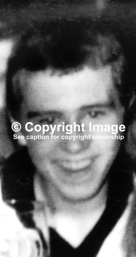 James Templeton, Peveril Street, Belfast, N Ireland, 15 years, random victim of UVF gun attack on the Rose and Crown Bar, Omeau Road, Belfast, on 29th August 1975. He unfortunately was passing the bar with a friend on their way to a local fish &amp; chip shop when the attack happened. The Rose and Crown had just re-opened after a bomb attack in which 6 people died. The bar had a largely Roman Catholic clientele. 197508290626<br />