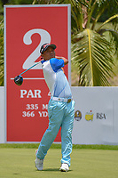 Mg MAE (MYA) watches his tee shot on 2 during Rd 1 of the Asia-Pacific Amateur Championship, Sentosa Golf Club, Singapore. 10/4/2018.<br /> Picture: Golffile | Ken Murray<br /> <br /> <br /> All photo usage must carry mandatory copyright credit (&copy; Golffile | Ken Murray)