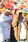 "Former Washington State quarterback, and ""Cougar Legend"", Ryan Leaf, watches the Cougars non-conference home-opener with Montana State at Martin Stadium in Pullman, Washington, on September 11, 2010, along side his father.  WSU came back in dramatic fashion to win the game, 23-22."