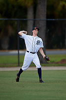 Detroit Tigers Kingston Liniak (9) during an Instructional League instrasquad game on September 20, 2019 at Tigertown in Lakeland, Florida.  (Mike Janes/Four Seam Images)