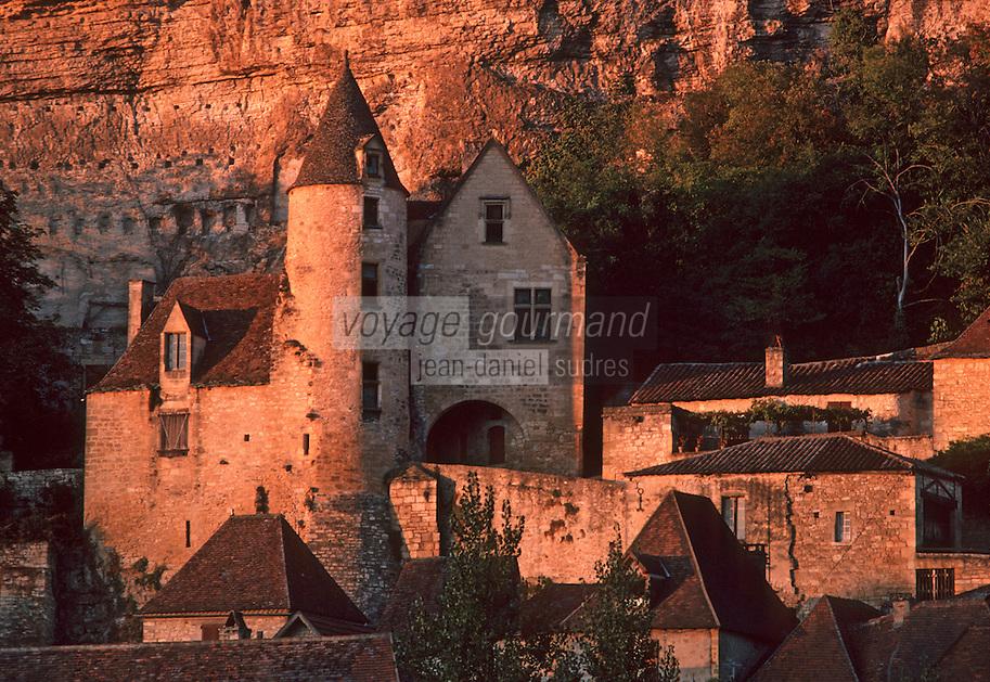 Europe/France/Aquitaine/24/Dordogne/La Roque Gageac: Le manoir de Tarde XVème siècle - Ancienne demeure du chanoine de Tarde