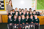 Starting off<br /> ---------------<br /> Teacher Aisling Curran with her class of first day at school children in Firies NS
