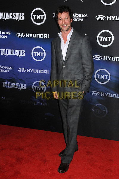 "Noah Wyle.TNT and Dreamworks Television's ""Falling Skies"" Premiere Screening held at the Pacific Design Center, West Hollywood, California, USA, .13th June 2011..full length  white shirt  grey gray jacket suit hand in pocket.CAP/ADM/BP.©Byron Purvis/AdMedia/Capital Pictures."