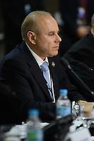 RIO DE JANEIRO-21/06/2012- O Ministro da Fazenda Guido Mantega na Conferencia da ONU, no Rio Centro, zona oeste do Rio.Foto:Marcelo Fonseca-Brazil Photo Press
