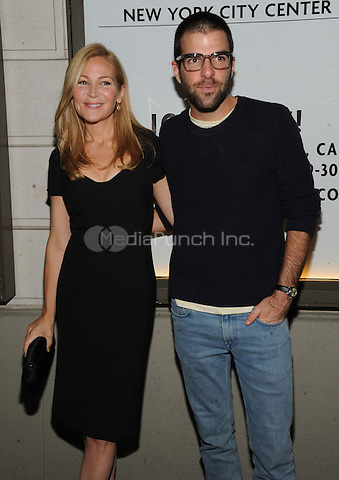 New York, NY- October 2:  Jennifer Westfeldt and Zachary Quinto attend the opening night for the play The Country House at the Samuel J. Friedman Theater in New York City .  Credit: John Palmer/MediaPunch