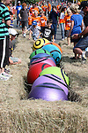 'Running of the balls'. Robertson's Collingwood Street Trolley Derby, 17 March 2012,  Nelson, New Zealand<br /> Photo: Marc Palmano/shuttersport.co.nz