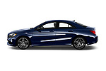 Car Driver side profile view of a 2018 Mercedes Benz CLA-Class CLA250 4 Door Sedan Side View
