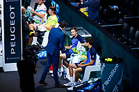 Rotterdam, The Netherlands, 15 Februari 2020, ABNAMRO World Tennis Tournament, Ahoy,<br /> Men's Doubles Final: Men's Doubles Final: Pierre-Hugues Herbert (FRA) and Nicolas Mahut (FRA), Henri Kontinen (FIN) an Jan-Lennard Struff (GER).<br /> Photo: www.tennisimages.com