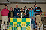 DUAGH VISIT: Some of the crowd at Duagh National School who turned up for the visit of the Sam Maguire Cup on Saturday night.