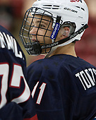 Jacob Tortora (NTDP - 11) - The Harvard University Crimson defeated the US National Team Development Program's Under-18 team 5-2 on Saturday, October 8, 2016, at the Bright-Landry Hockey Center in Boston, Massachusetts.