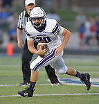 Mascoutah quarterback Devon Ross runs the ball. Columbia played Mascoutah on Saturday August 31, 2019 in a football game that was never started on Friday night due to bad storms.<br /> Tim Vizer/Special to STLhighschoolsports.com