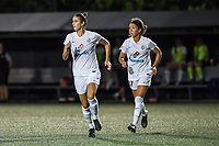 Boston, MA - Friday August 04, 2017: Yael Averbuch and Sydney Miramontez during a regular season National Women's Soccer League (NWSL) match between the Boston Breakers and FC Kansas City at Jordan Field.