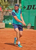 Netherlands, Amstelveen, August 22, 2015, Tennis,  National Veteran Championships, NVK, TV de Kegel,  Men's 35+,  Sander Erkamp<br /> Photo: Tennisimages/Henk Koster