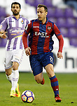 Real Valladolid's Alex Lopez (l) and Levante UD's Paco Montanes during La Liga Second Division match. March 11,2017. (ALTERPHOTOS/Acero)
