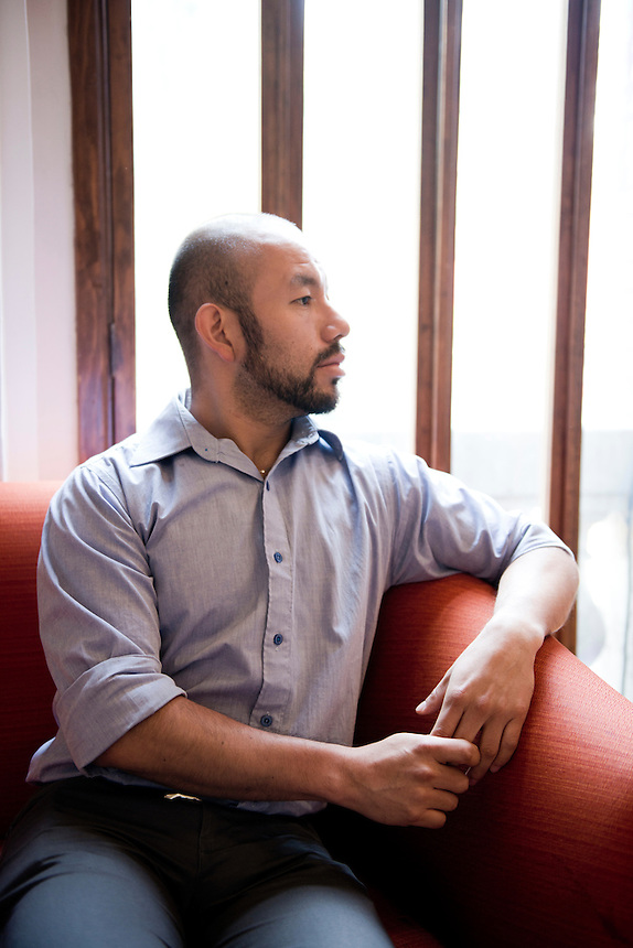 Alex Mendez gay rights activist and lawyer.  El Pendulo, Colonia Roma, Mexico City