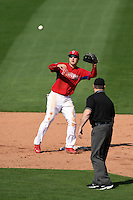 Philadelphia Phillies infielder Chase d'Arnaud (62) during an exhibition game against the University of Tampa on March 1, 2015 at Bright House Field in Clearwater, Florida.  University of Tampa defeated Philadelphia 6-2.  (Mike Janes/Four Seam Images)