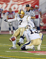 Troy Westwood Winnipeg Blue Bombers kicker. Copyright photograph Scott Grant