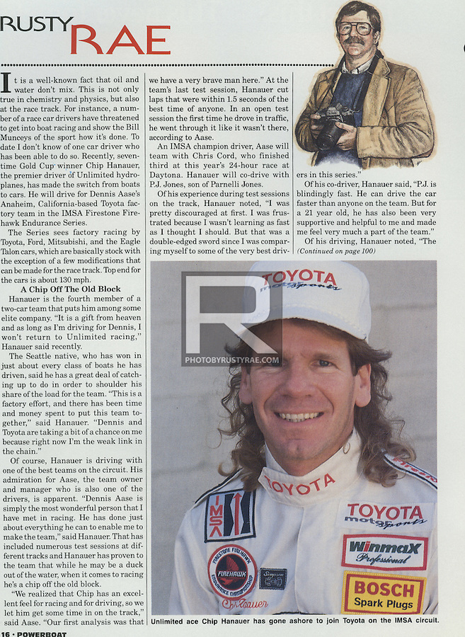 From 1983 through 1990 I wrote a monthly column for Powerboat magazine focused on the sport of boat racing. Most of the coverage was about unlimited hydroplane racing.