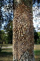 """France, Domaine de Chaumont-sur-Loire, dans le parc du château oeuvre de Nathalie Nery """" Est-ce-que si un arbre peignait """""""