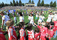 Marta and the LA Sol walk into the stadium,.LA Sol 2-0, over FC Gold, Sunday, May 24, 2009, at Buck Shaw Stadium, in Santa Clara, California.