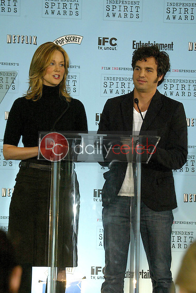 Laura Linney and Mark Ruffalo<br />at the 2005 Independent Spirit Awards Nominations Announcement. Le Meridien, Los Angeles, CA. 11-29-05<br />Jason Kirk/DailyCeleb.com 818-249-4998