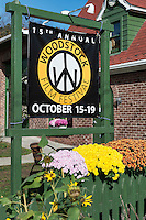 Film Festival sign, Woodstock, New York, USA