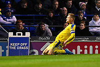 Joe Pigott of AFC Wimbledon left celebrates scoring the equaliser  with to make the score 1-1 during Portsmouth vs AFC Wimbledon, Sky Bet EFL League 1 Football at Fratton Park on 11th January 2020