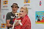 "John Glover and Blithe Spirit's Angela Lansbury at Broadway Barks 11 - a ""Pawpular"" star-studded dog and cat adopt-a-thon on July 11, 2009 in Shubert Alley, New York City, NY. (Photo by Sue Coflin/Max Photos)"