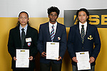Boys Weightlifting finalists Lou Guinares, Avantha Hewavitharana & Eric Tan. ASB College Sport Young Sportperson of the Year Awards 2007 held at Eden Park on November 15th, 2007.