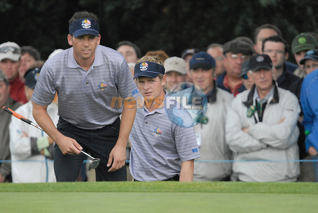 23rd September, 2006. European Ryder Cup Team player Sergio Garcia during the afternoon fourball session of the second day of the 2006 Ryder Cup at the K Club in Straffan, County Kildare in the Republic of Ireland..Photo: Eoin Clarke/ Newsfile.