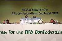 ATENCAIO EDITOR FOTO EMBARGADA PARA VEICULO INTERNACIONAL - SAO PAULO, SP, 28 DE NOVEMBRO 2012 - COLETIVA FIFA - durante coletiva dda FIFA edo Comitê Organizador da Copa do Mundo (COL) na tarde desta quarta-feira, 28 na regiao norte da capital paulista. FOTO: VANESSA CARVALHO BRAZIL PHOTO PRESS.