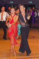 Kosuke Matsumoto and Nozomi Katou of Japan perform their dance during the Professional Rising Stars Latin competition of the International Championships held in Brentwood International Centre, Brentwood, United Kingdom. Tuesday, 19. October 2010. ATTILA VOLGYI