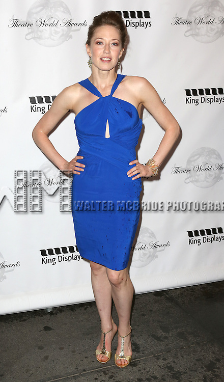 Carrie Coon attending the 69th Annual Theatre World Awards at the Music Box Theatre in New York City on June 03, 2013.