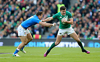 Saturday 10th February 2018 | Ireland vs Italy<br /> <br /> Jacob Stockdale is tackled by Tommaso Benvenuti during the Six Nations Rugby Championship match between Ireland and Italy at the Aviva Stadium, Lansdowne Road,  Dublin Ireland. Photo by John Dickson / DICKSONDIGITAL
