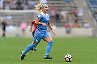 Bridgeview, IL - Sunday August 20, 2017: Julie Ertz during a regular season National Women's Soccer League (NWSL) match between the Chicago Red Stars and FC Kansas City at Toyota Park. KC Kansas City won 3-1.