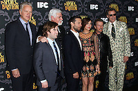"LOS ANGELES, CA - JANUARY 07: Tim Robbins, Haley Joel Osment, Steve Tom, Tobey Maguire, Kristen Wiig, David Spade, Will Ferrell arriving at the Los Angeles Screening Of IFC's ""The Spoils Of Babylon"" held at the Directors Guild Of America on January 7, 2014 in Los Angeles, California. (Photo by Xavier Collin/Celebrity Monitor)"