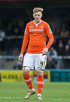 Joe Pigott of Luton Town during the Sky Bet League 2 match between Wycombe Wanderers and Luton Town at Adams Park, High Wycombe, England on 6 February 2016. Photo by Andy Rowland.