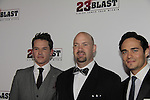 "Mark Hapka, Travis Freeman, Bram Hoover - Premiere of ""23 Blast"" - Vision Comes From Within"" - a film by Dylan Baker starring Kim Zimmer, Mark Hapka (Days), Stephan Lang, Bram Hoover with Gary Donatelli (OLTL) as producer on October 20, 2014 at Regal Cinemas E-Walk Theatre, New York City. (Photo by Sue Coflin/Max Photos)"