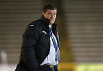 Morton v St Johnstone....30.10.13   Scottish League Cup Quarter Final<br /> A glum Tommy Wright<br /> Picture by Graeme Hart.<br /> Copyright Perthshire Picture Agency<br /> Tel: 01738 623350  Mobile: 07990 594431