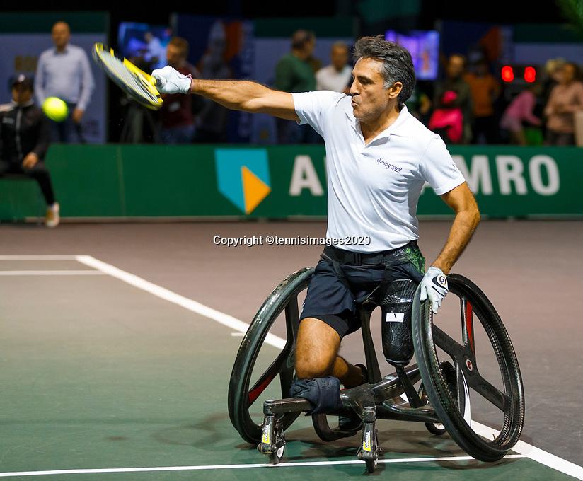 Rotterdam, The Netherlands, 9 Februari 2020, ABNAMRO World Tennis Tournament, Ahoy, Wheelchair: Stephane Houder (FRA).<br /> Photo: www.tennisimages.com