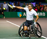Rotterdam, The Netherlands, 9 Februari 2020, ABNAMRO World Tennis Tournament, Ahoy, Wheelchair: Stephane Houder (FRA).<br /> Photo: www.tennisimages.com