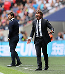 Chelsea's Antonio Conte celebrates his sides opening goal during the premier league match at the Wembley Stadium, London. Picture date 20th August 2017. Picture credit should read: David Klein/Sportimage