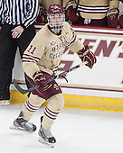 Chris Calnan (BC - 11) - The Boston College Eagles defeated the visiting University of Notre Dame Fighting Irish 4-2 to tie their Hockey East quarterfinal matchup at one game each on Saturday, March 15, 2014, at Kelley Rink in Conte Forum in Chestnut Hill, Massachusetts.