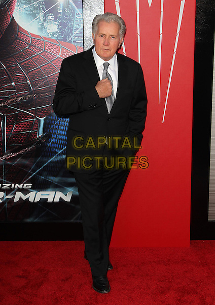 "Martin Sheen.Los Angeles Premiere Of ""The Amazing Spider-Man"" Held The at Regency Village Theatre, Westwood, California, USA..June 28th, 2012.full length black suit grey gray tie white shirt hand.CAP/ADM/FS.©Faye Sadou/AdMedia/Capital Pictures."