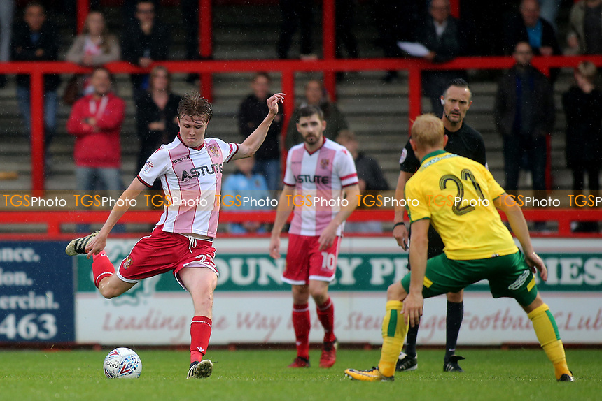 James Ferry of Stevenage takes a shot at the Norwich goal during Stevenage vs Norwich City, Friendly Match Football at the Lamex Stadium on 11th July 2017